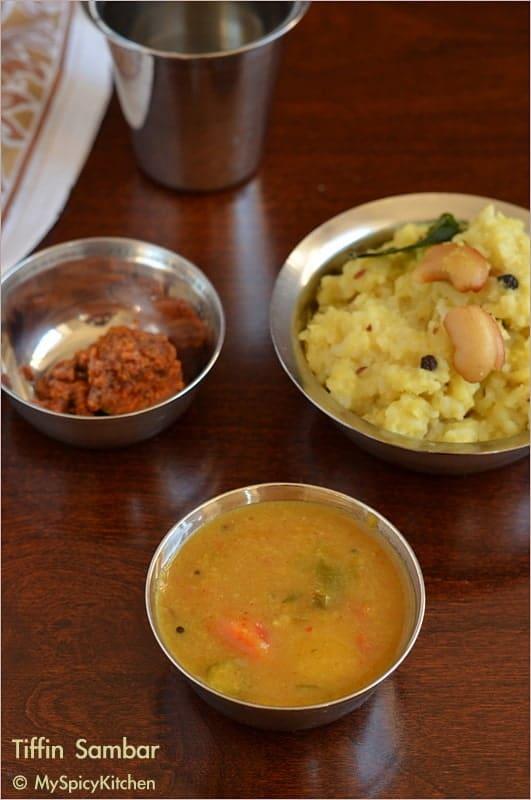 Sambar, Moong dal Sambar, Hotel Sambar, Buffet on Table, Blogging Marathon, Tamil Food, Tamil Cuisine, Sambar