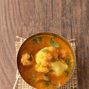 Cauliflower shorba, Cauliflower Stew, Indian Food, Telangana Food, Cauliflower Gravy, Cauliflower Curry, Blogging Marathon