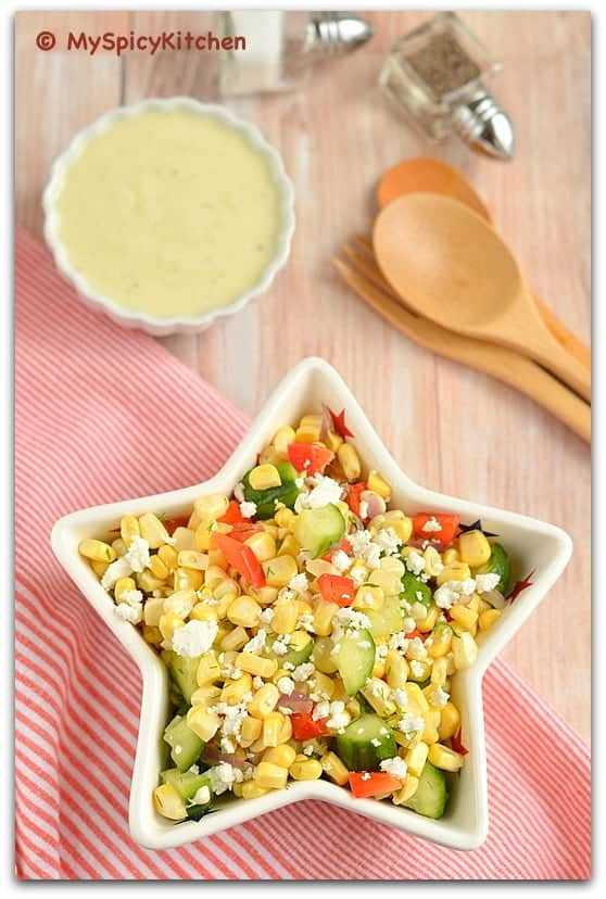 Fresh corn Salad, Sweetcorn Salad, Salad, Summer Salad, Blogging ...