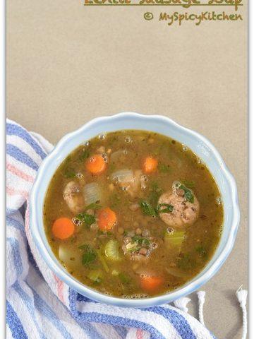 Lentil Soup, Green Lentil Soup, Sausage Soup