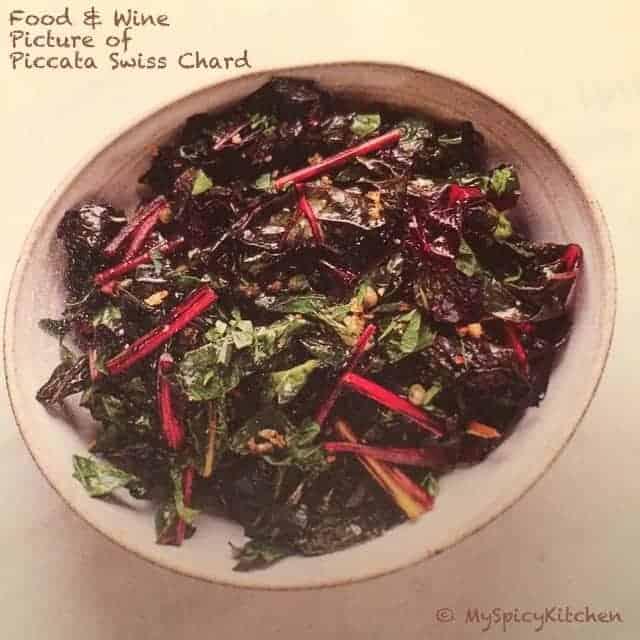 Swiss Chard Piccata image from Food & Wine Magazine