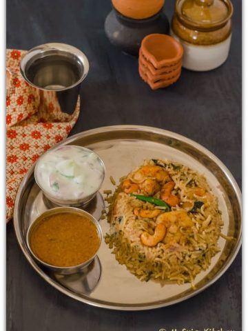 Raju Gari Royyala Pulao, Shrimp Pulao, Pulao, Indian Food, Blogging Marathon, Shrimp Rice,