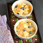 Fruit Salad with Mock Custard