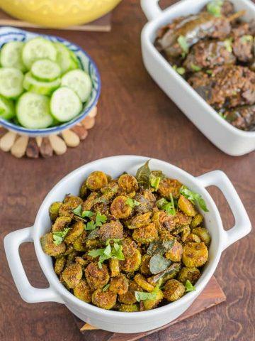 Telangana Food, Telangana Cuisine, Telugu Food, Indian Food, South Indian Food, Blogging Marathon, Journey Through the Cuisines, Dondakaya Besan Curry, Ivy Gourd Besan Curry, Dondakaya Barada,