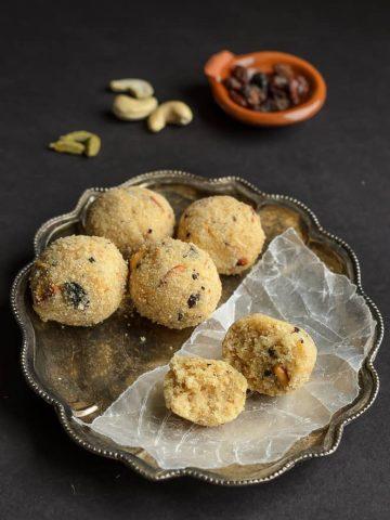 Rava Laddu, Endu Kobbari Rava Laddu, Kobbari Rava Laddu, Coconut Rava Laddu, Sooji Laddu, Indian Laddu, Indian Sweet, Telugu Food, Telangana Food, Blogging Marathon, Journey Through Regional Cuisines,