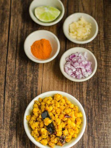 Makka Gudaalu, Telangana Food, Telangana Cuisine, Telugu Food, Indian Food, South Indian Food, Blogging Marathon, Journey Through the Cuisines, A-Z Challenge, A-Z Telangana Cuisine, Sauteed Corn Kernels, Makka Jonna Gudaalu,