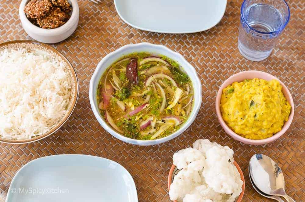 Pappu Pachi Pulusu, Pachi Pulusu, Raw Tamarind Rasam, Ulligada pachi Pulusu, Telangana Food, Telangana Cuisine, Telugu Food, Indian Food, South Indian Food, Blogging Marathon, Journey Through the Cuisines, A-Z Challenge, A-Z Telangana Cuisine