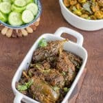 Vankaya Poornam ~ Stuffed Baby Eggplant Curry
