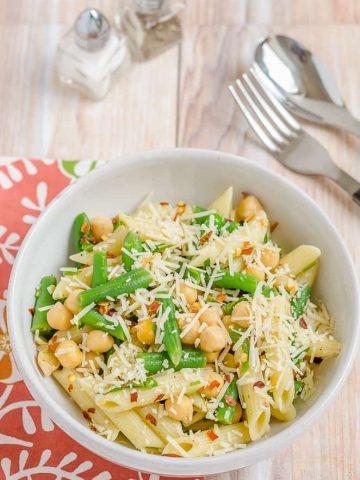 Salad, Blogging Marathon, Green Beans, Chickpeas,