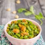 Green Beans Mini Soya Chunks Fry