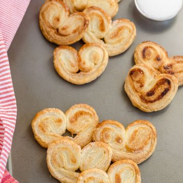 Homemade Palmiers, Homemade Little Hearts, Homemade Lunettes, Puff Pastry Sheets, Recipes with Puff Pastry Sheet, French Pastry,