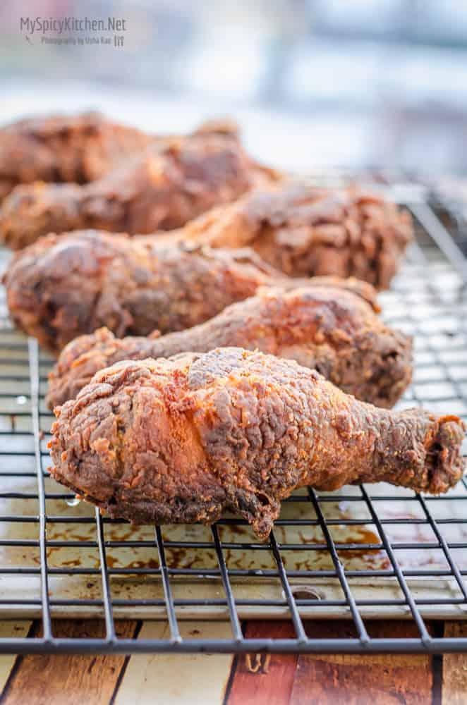 Blogging Marathon, Cooking Carnival, Protein Rich Food, Cooking With Protein Rich Ingredients, Cooking With Chicken, Fried Chicken, Buttermilk Fried Chicken, Chicken Drumsticks, Deep Fried, Appetizer,