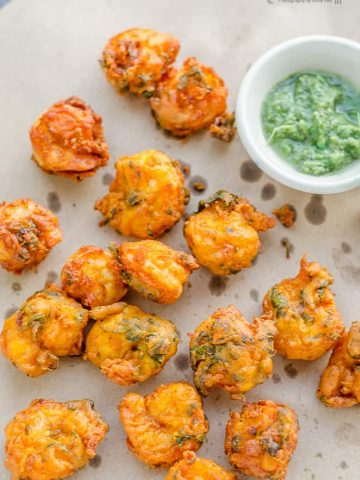 Blogging Marathon, Cooking Carnival, Protein Rich Food, Cooking With Protein Rich Ingredients, Cooking With Shrimp, Shrimp Recipes, Seafood, Prawns, Shrimp Pakoda, Prawn Pakora, Fried Shrimp, Indian Food, Deep Fried, Snack, Appetizer