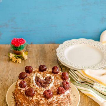 Black Forest Cake, German Cake, Black Forest Gateau, Bakeathon,