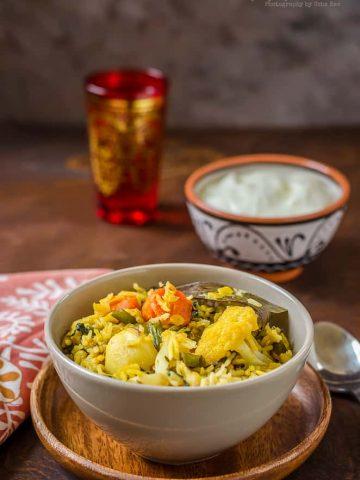 Toor Dal Vegetable Khichdi, Toor Dal Khichdi, Arhar Dal Khichdi, Lentil Vegetable Rice, Blogging Marathon,
