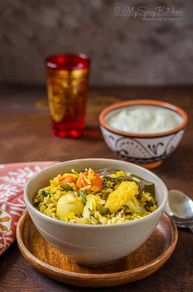 Toor Dal Vegetable Khichdi, Toor Dal Khichdi, Arhar Dal Khichdi, Lentil Vegetable Rice, Blogging Marathon,