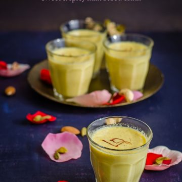 Thandai for Holi, Thandai, Festival Drink, Blogging Marathon, Holi Drink,