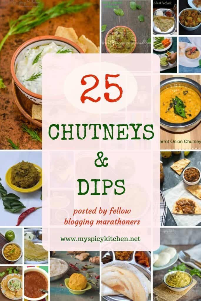 Collage of 25 mouthwatering chutneys and dips