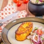 Healthy Pan Seared Tandoori Salmon