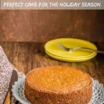 Applesauce whole wheat cake is a moist tasty holiday cake