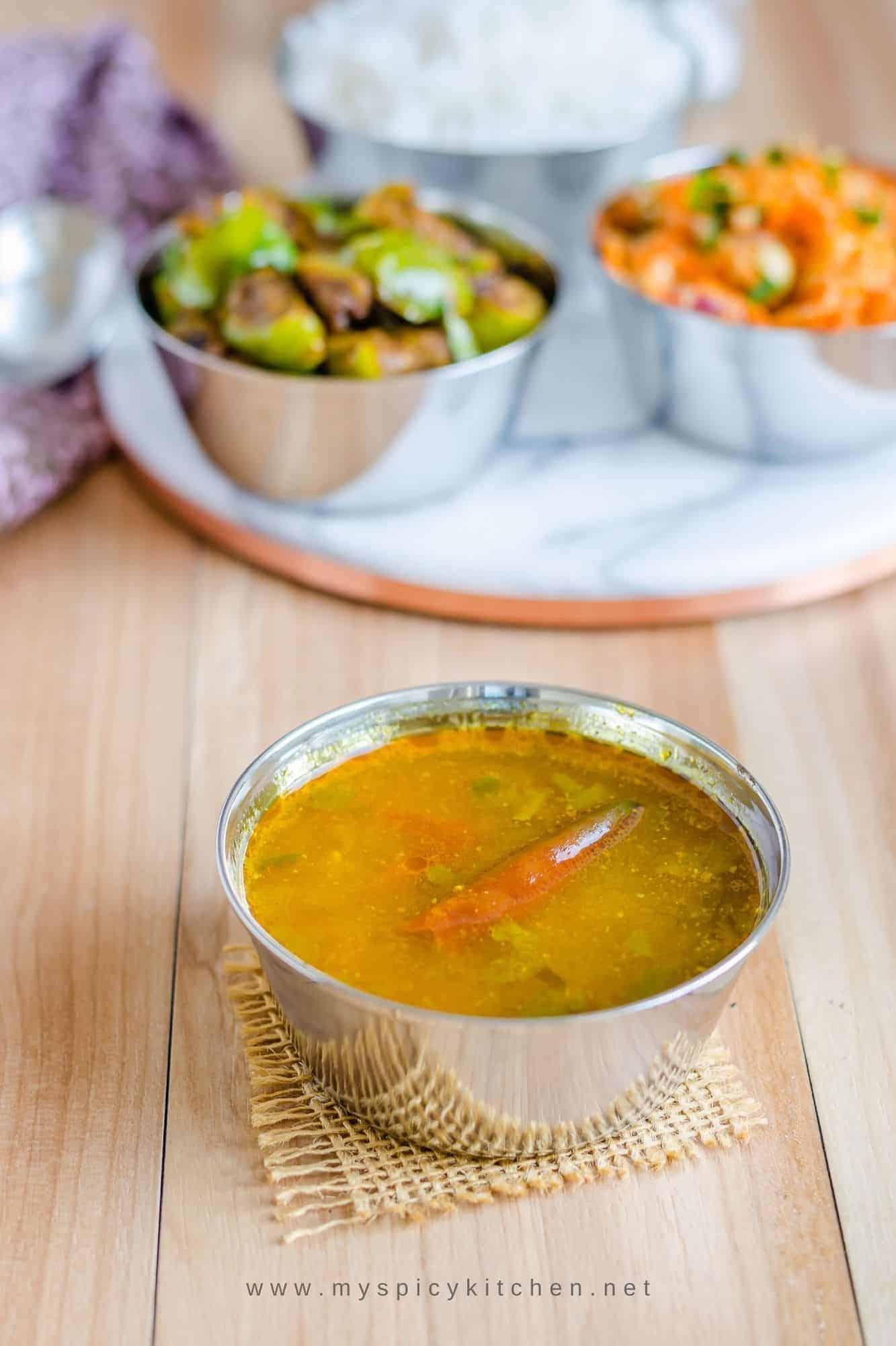 a bowl of tamata chaaru