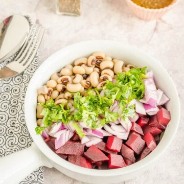 Healthy black eyed peas beets salad is a yummy side and a summer salad