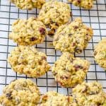 Chewy zucchini oats chocolate cookies