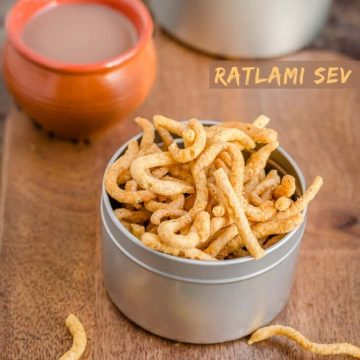 Ratlami sev is spicy crunchy deep fried snack with gram flour