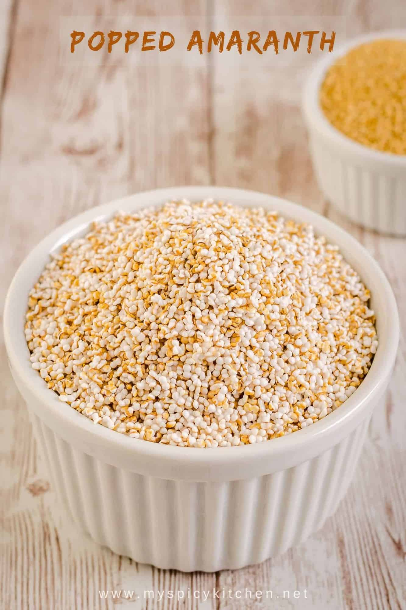 Bowl of popped amaranth