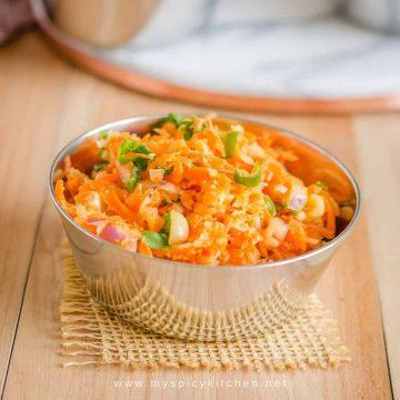 A bowl of gajar mooli koshimbir