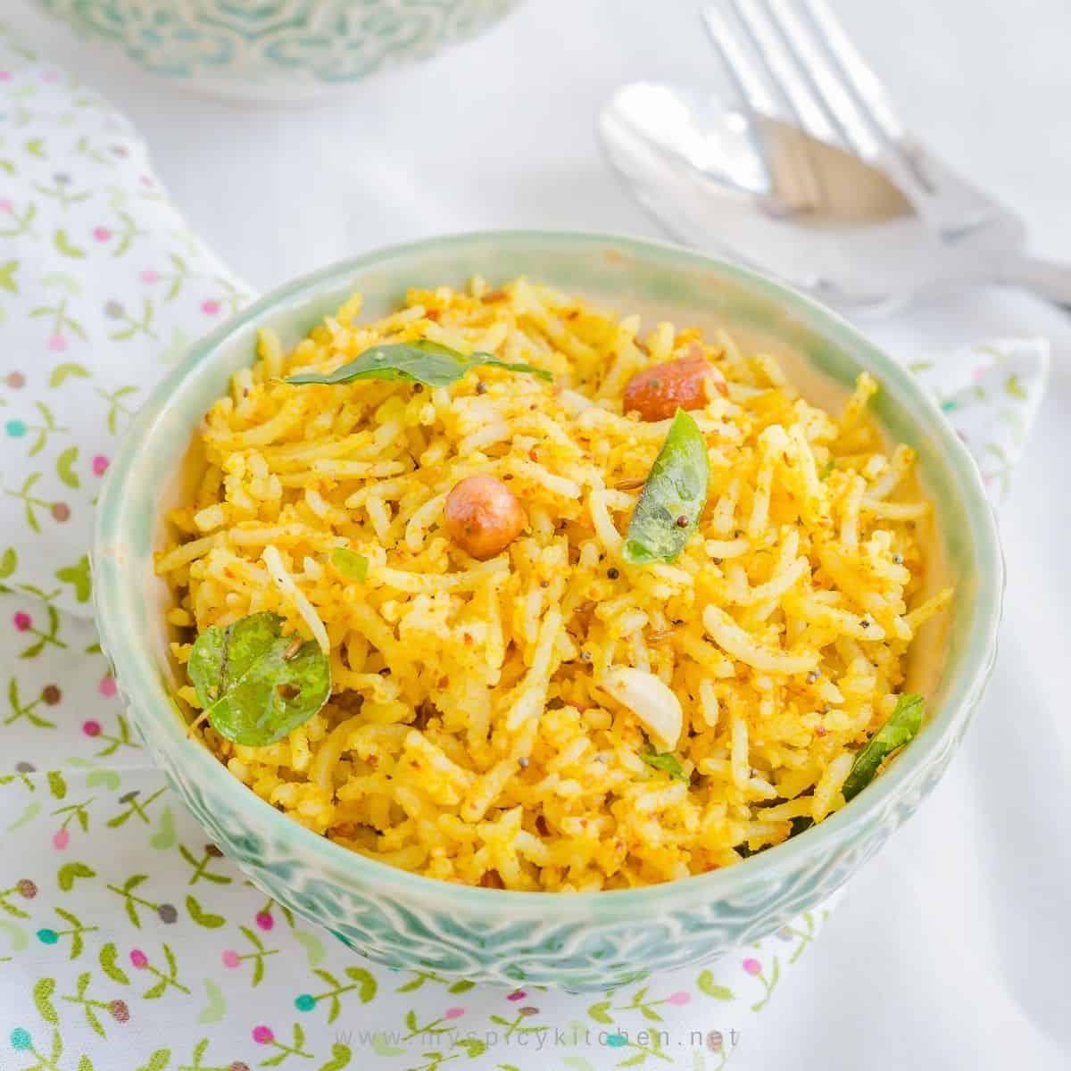Bowl of groundnut rice.
