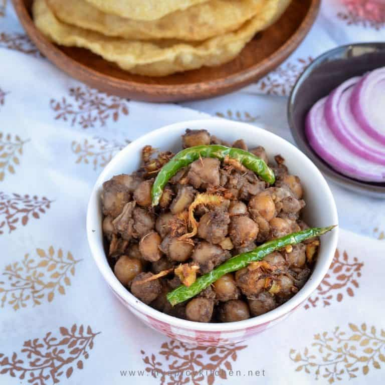 A bowl of chickpeas curry