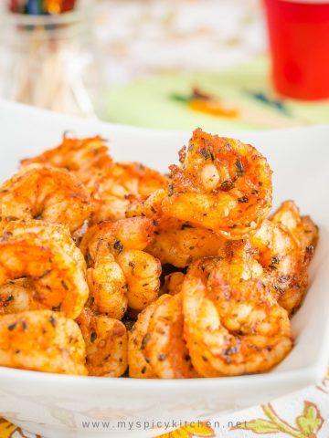 Broiled shrimp.