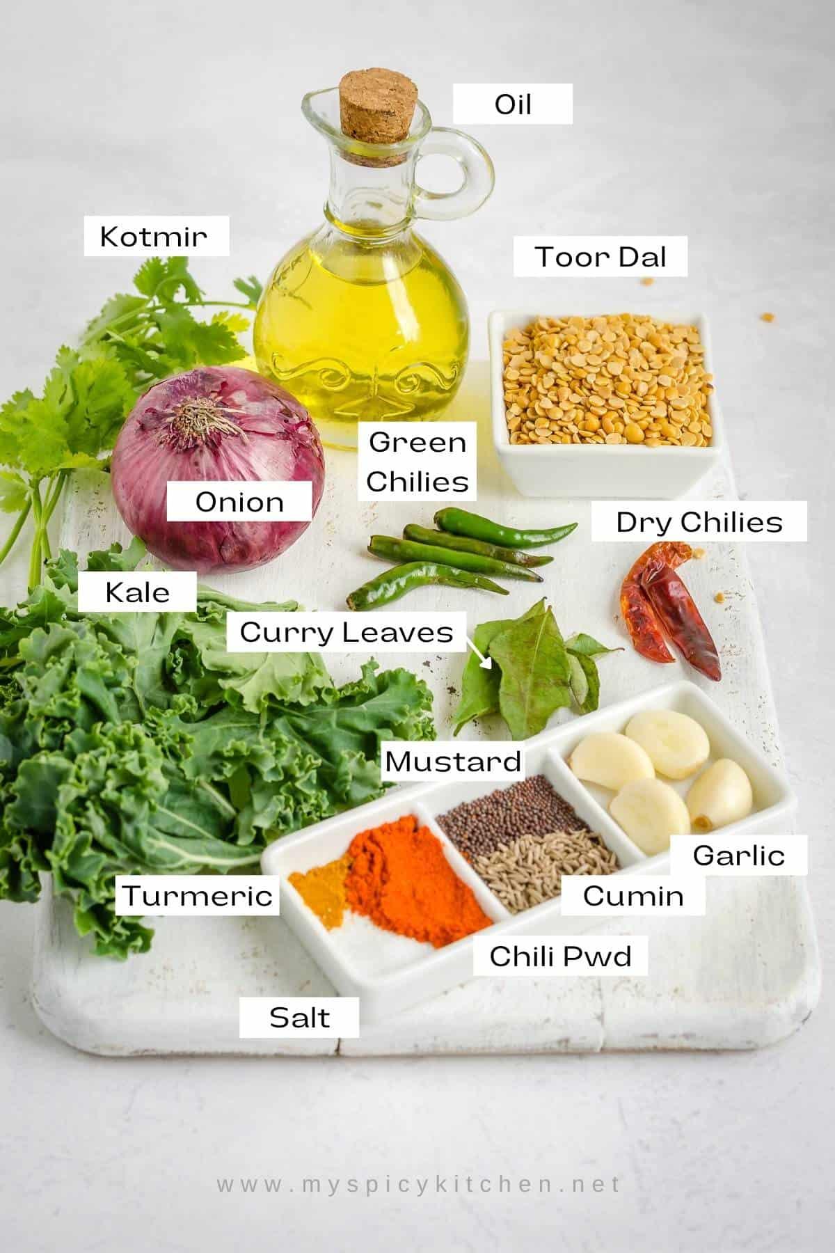 Ingredients shot.
